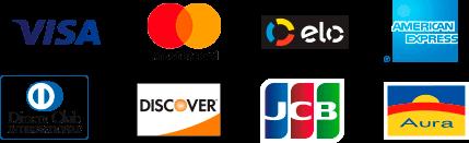 Aceitamos todos os cartões de crédito da Cielo
